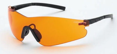 Frameless Shooting Glasses : Crossfire 30219AF Blade Frameless Safety Glasses Orange ...